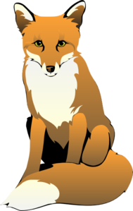 Fox Sitting Clip Art