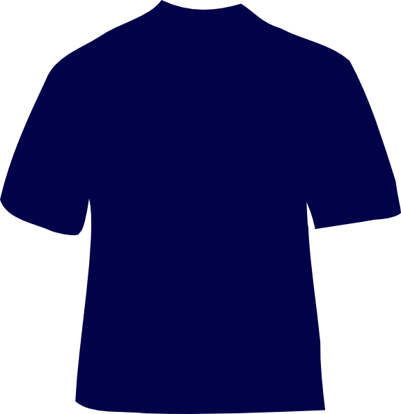 navy blue tshirt clip art at clkercom vector clip art