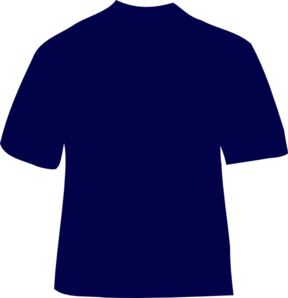 Navy Blue T-shirt Clip Art