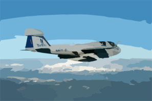 An Ea-6b  Prowler  From Electronic Attack Squadron One Twenty Eight (vaq-128) Clip Art