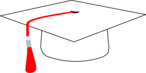 Red Mortarboard Clip Art