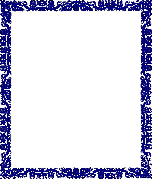 Blue Border Design Clip Art at Clker com - vector clip art
