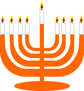 Orange Menorah Clip Art