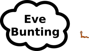 Eve Bunting Sign Clip Art