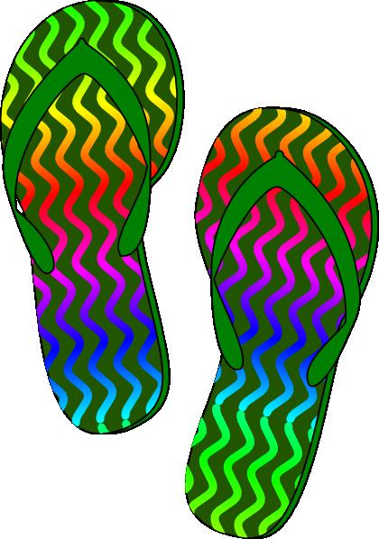 green flip flops clip art at clker com vector clip art online rh clker com flip flop clip art png flip flop clip art borders