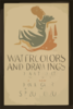 Watercolors And Drawings, Federal Art Project, Works Progress Administration, At The New Federal Art Gallery  / Herzog. Clip Art