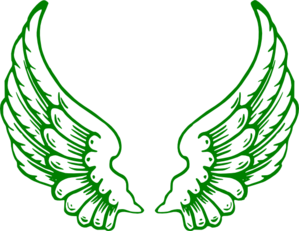 Green Wings Clip Art