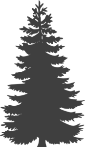Dark Gray Pine Tree Clip Art