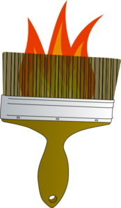 Flaming Brush Clip Art