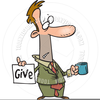 Person Begging Clipart Image