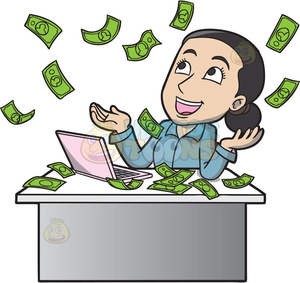 Animated money PNG Clipart.