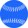 Blue Softball 2 Clip Art