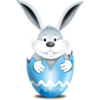 Bunny In Egg Blue 2 Image