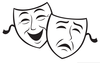 Theater Masks Comedy Tragedy Clipart Image