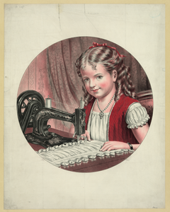 [child At Sewing Machine] Image