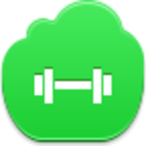 Free Green Cloud Barbell Image