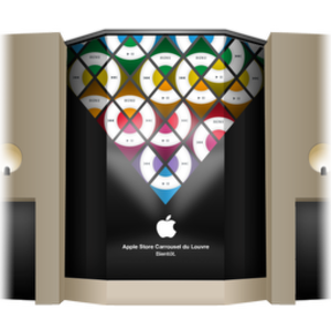 Apple Store Louvre Front Cover Icon Image