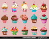 Pink Cupcake Clipart Image
