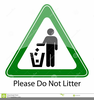 Clipart Of Littering Signs Image