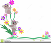 Clipart Bear With Flowers Image