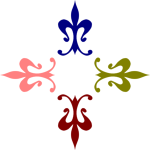 Coloured Ornaments Clip Art