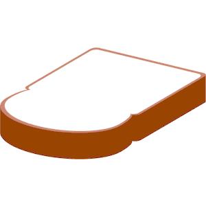 bread slice free images at clker com vector clip art online rh clker com slice of bread clipart free 2 slices of bread clipart
