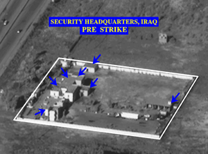 A Pre-strike Photo Of A Security Headquarters Compound In Iraq . Image