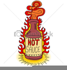 Hot Sauce Bottle Clipart Image