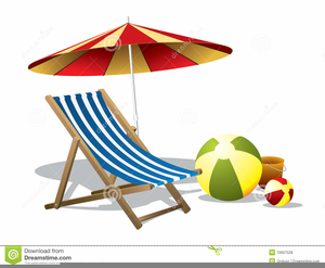 Free Beach Umbrella Clipart Image
