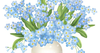 Vase Of Flowers Clipart Image