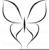 Butterfly Black And White Clipart Image