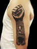Black Power Tattoos Image
