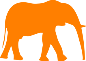 Elephant Orange Clip Art