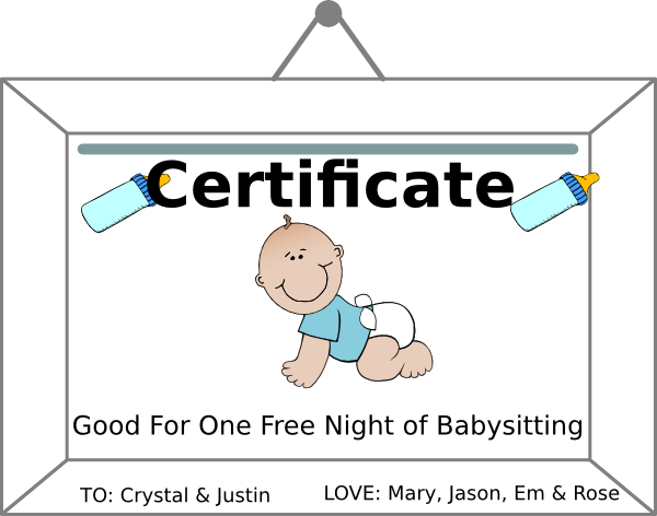babysitting coupn clip art at clker com
