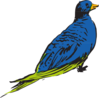 Blue And Green Bird Clip Art