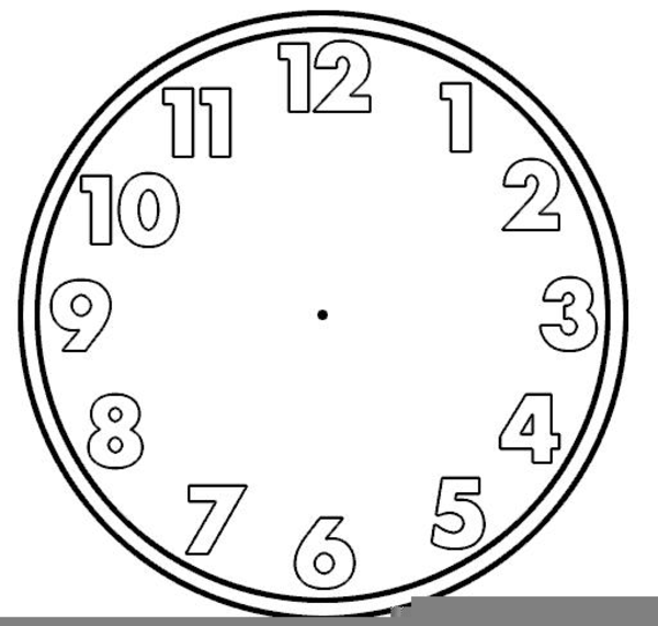 Blank Clock Clipart For Teachers | Free Images at Clker ...