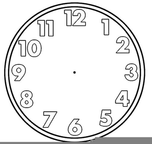 blank clock clipart for teachers free images at clker com vector rh clker com Blank Analog Clock Clip Art blank clock face clipart