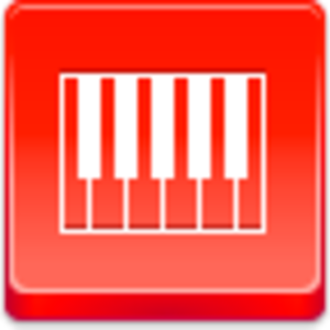 Free Red Button Icons Piano Image