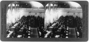 Parliament In Session, Oct. 7, 1919, Prague, Bohemia, Czechoslovakia Image