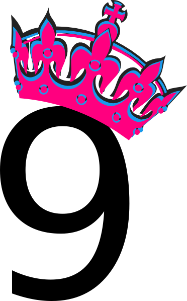Pink Tilted Tiara And Number 9 Clip Art at Clker.com - vector clip art ...