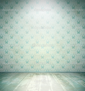 Depositphotos Aged Room With Floral Wallpaper Image