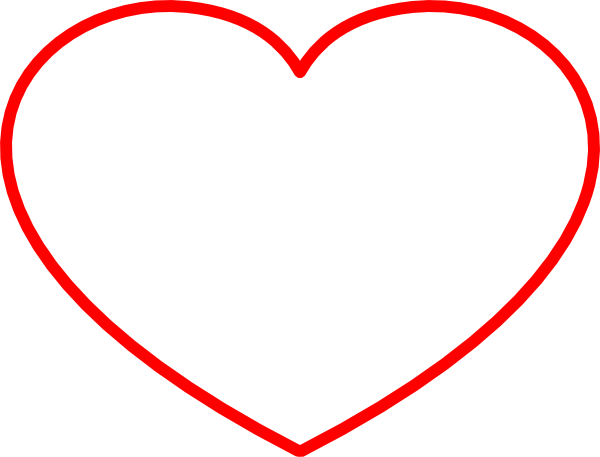 Heart Outline Clip Art at Clker.com - vector clip art ...