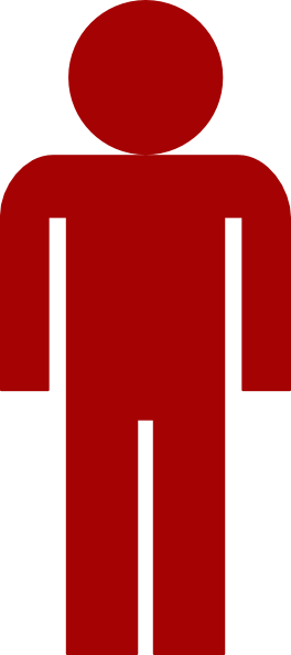 Red Man Symbol Clip Art at Clker.com - vector clip art ...