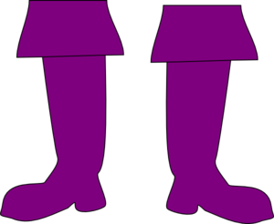 Purple Pirate Boots Clip Art