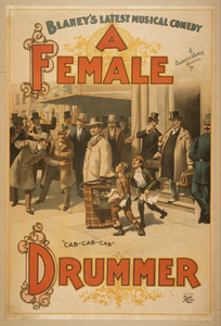 Blaney S Latest Musical Comedy, A Female Drummer Image