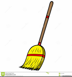 cartoon brooms clipart free images at clker com vector clip art rh clker com broom clipart black and white broom clipart black and white