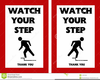 Watch Your Step Clipart Image