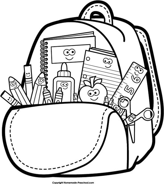 Free Black And White Kindergarten Clipart