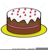 Free Strawberry Cake Clipart Image