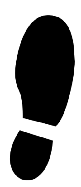 Shoe Print L | Free Images at Clker.com - vector clip art ...